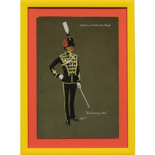 """""""10th (Prince of Wales Own Royal) the Chainy 10th"""" Original Gouache For Sale"""