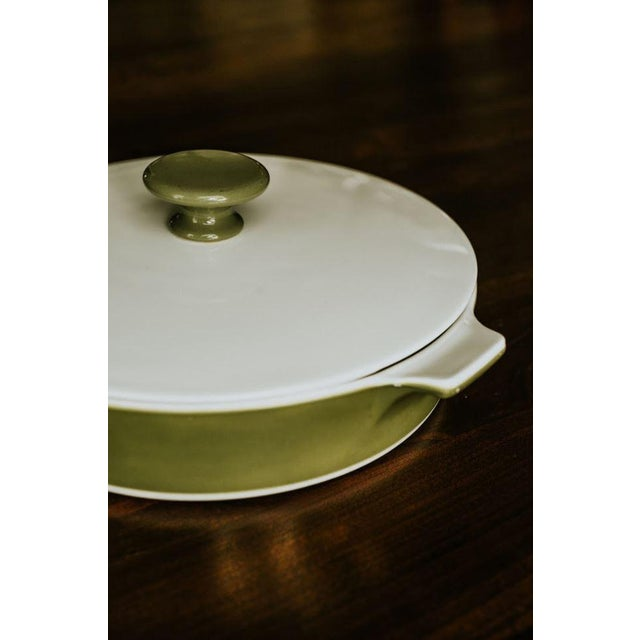 Mid-Century Modern Avocado Corning Dutch Oven For Sale - Image 3 of 8
