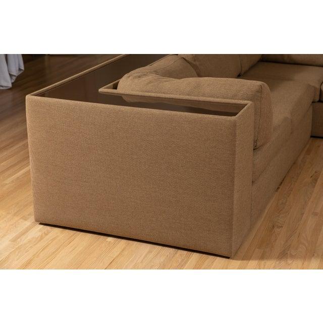 Milo Baughman Four-Piece Milo Baughman Sectional Sofa with Original Polymer Shelf Back For Sale - Image 4 of 12
