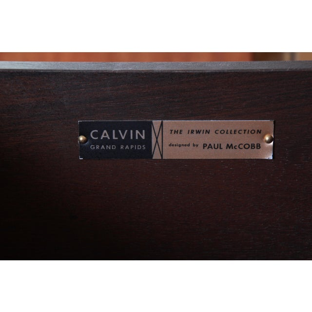 Paul McCobb for Calvin Irwin Collection Mahogany Sideboard Credenza, Newly Restored For Sale - Image 12 of 13