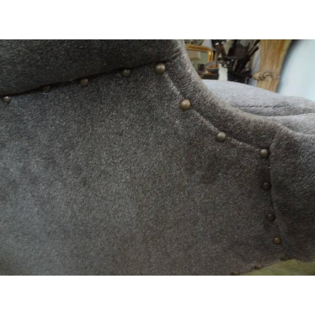 Gray Circa 1960 Mid-Century Italian Gio Ponti Inspired Lounge Chairs - A Pair For Sale - Image 8 of 9