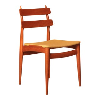 Pair of Swiss Teak Side Chairs, Switzerland 1950s For Sale