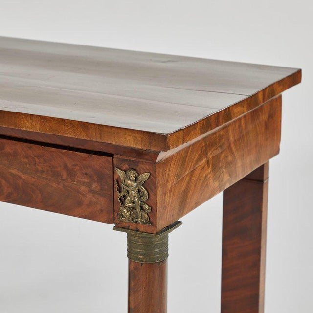 Empire Console in Mahogany For Sale - Image 4 of 5