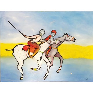 """""""Passing Forward"""" Original Painting by Clemente Mimun For Sale"""
