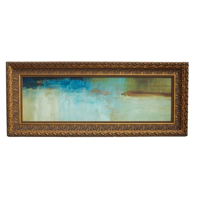 Mid-Century Abstract Oil Painting - Image 1 of 7