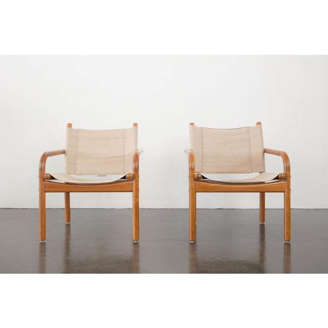 Mid 20th Century Mid-Century Danish Safari Chairs - A Pair For Sale - Image 5 of 13