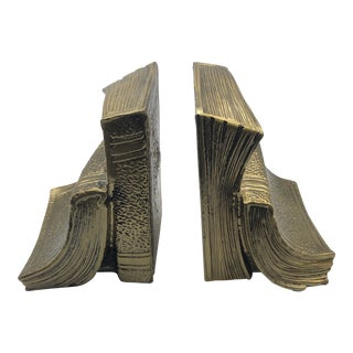 Book Shaped Bookends - a Pair For Sale