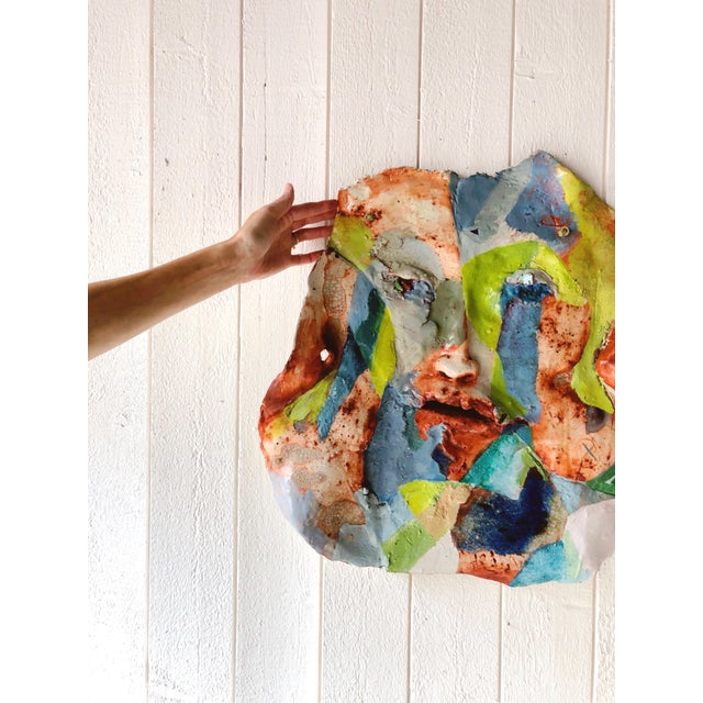 Abstract Artist Made Abstract Face Wall Sculpture For Sale - Image 3 of 4