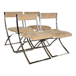 Set of Twelve Marcello Cueno Mobel Italia Folding Chairs C.1970s For Sale