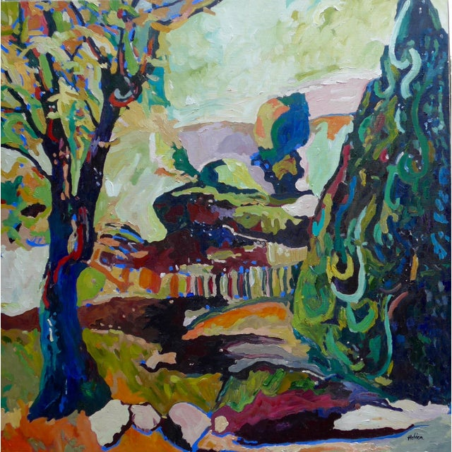 French Garden Near Paris, Oil Painting - Image 1 of 6