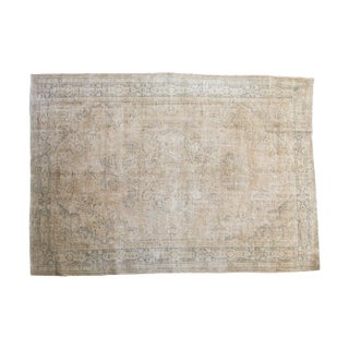 "Distressed Oushak Carpet - 7' X 10'1"" For Sale"