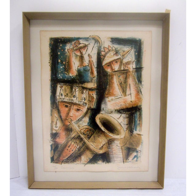 Modern Emil Weddige Abstract Modernist Mid Century Modern Art Musicians For Sale - Image 3 of 8