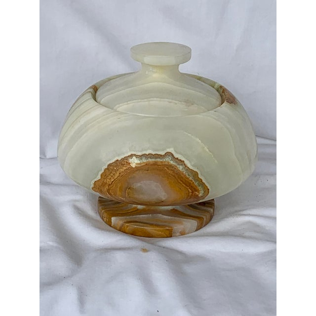 Vintage Onyx Lidded Box For Sale - Image 12 of 13