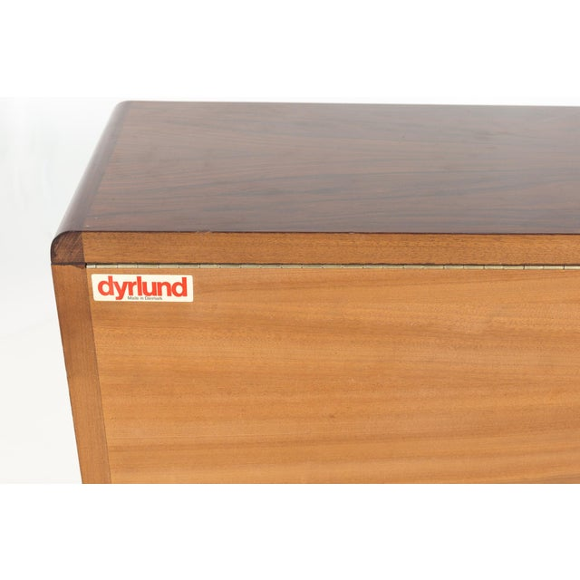 Dyrlund Rosewood Mid Century Queen Bed With Matching Nightstands For Sale - Image 12 of 13