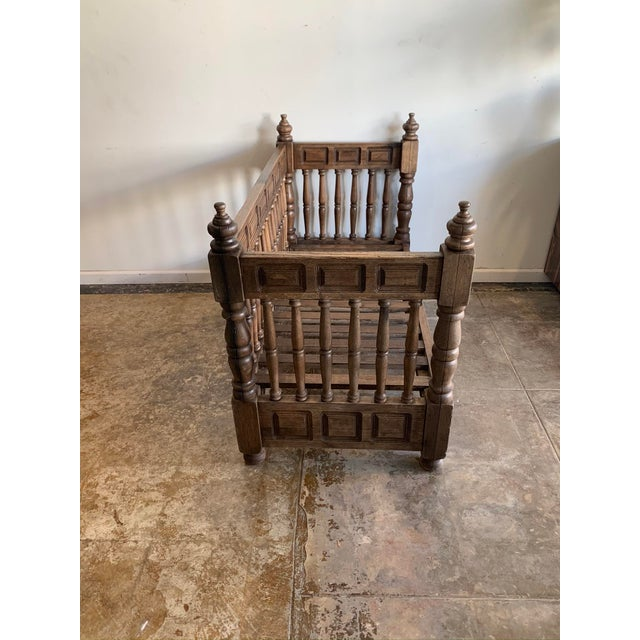 Early 20th Century European Wood Daybed Frame For Sale - Image 4 of 8