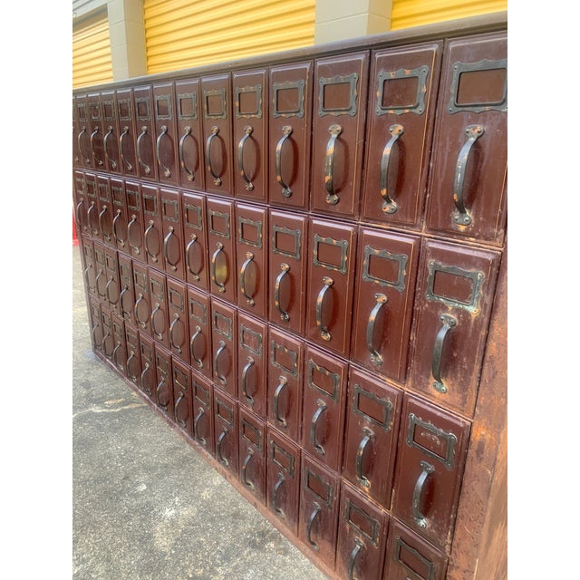 Mid 20th Century Vintage Industrial File Cabinet For Sale In Houston - Image 6 of 11