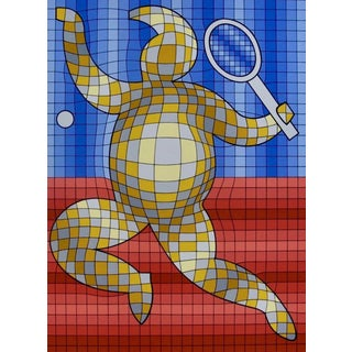Victor Vasarely Tennis Player 1978 For Sale