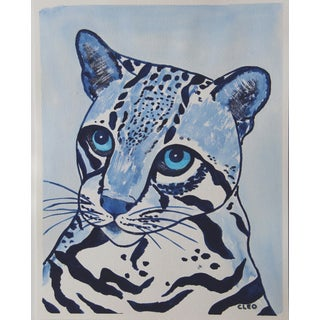 Leopard Big Cat Painting by Cleo Plowden For Sale