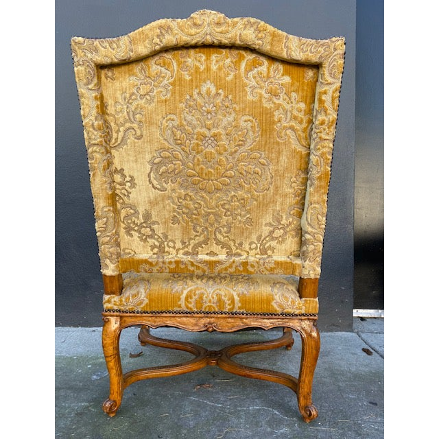 Tan Single 18th C. French Regence Walnut Carved Arm Chair For Sale - Image 8 of 12