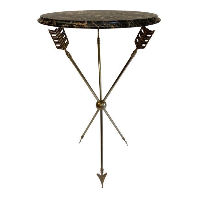Maison Jansen Style Arrow Motife Side Table For Sale