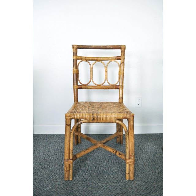 1920s Antique 1920's Bamboo & Rattan Chairs - A Pair For Sale - Image 5 of 10