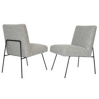 Allan Gould Style Iron Frame Lounge Chairs - A Pair For Sale