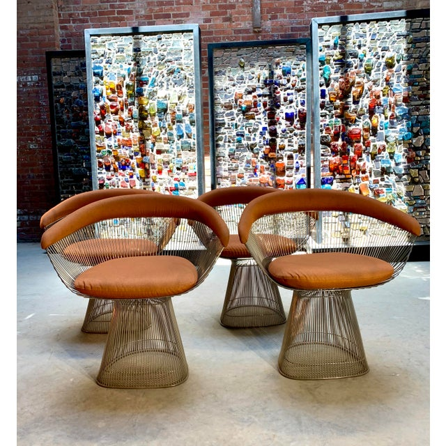 1960s 1960s Original Platner Arm Chairs for Knoll International - Set of Four For Sale - Image 5 of 12
