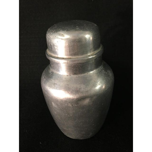 """Vintage Farmhouse Style Small Aluminum Pitcher 5.5"""" High Cream Milk Syrup Decor For Sale - Image 6 of 7"""