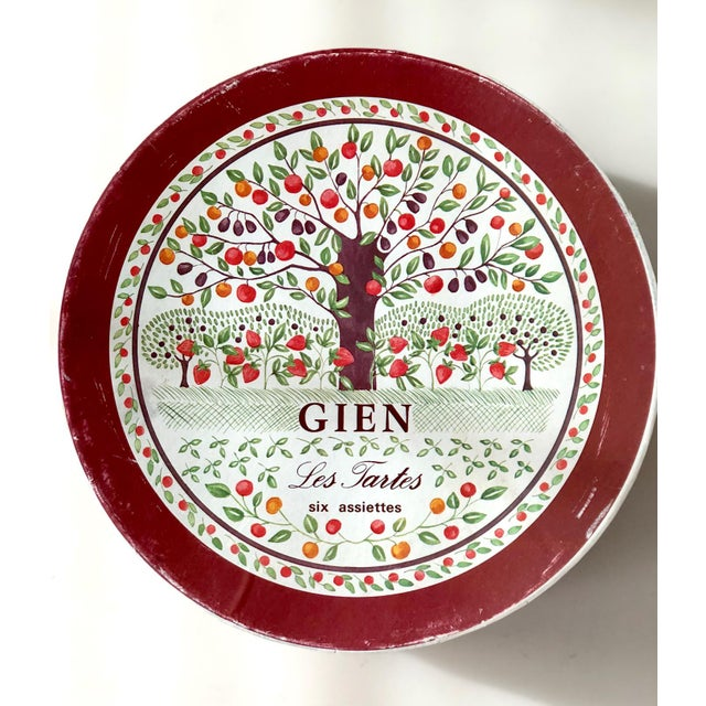 Gien Cake Plate With Serving Plates in Original Box - 7 Pc. Set For Sale - Image 9 of 13