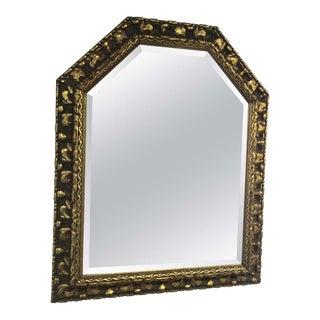 Carved Wooden Gold Leaf Mirror For Sale