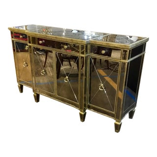 Hollywood Regency Mirrored Cabinet For Sale