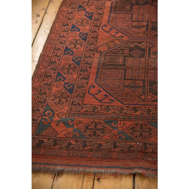 "Old New House Vintage Ersari Carpet - 7'6"" X 11'4"" For Sale - Image 4 of 12"