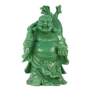 1960's Green Resin Happy Buddha