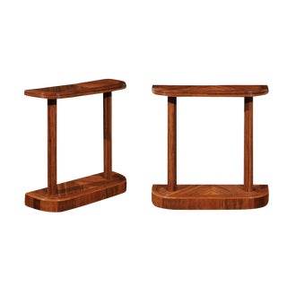 Radiant Restored Pair of Reed Bamboo Consoles, Circa 1975 For Sale