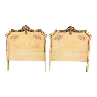Regency Solid Wood Hand Carved Twin Headboards - a Pair For Sale