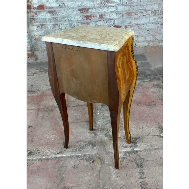 French 19th Century Marquetry Petit Commodes- a Pair For Sale - Image 9 of 10