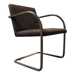 Late 20th Century Chrome Cantilevered Arm Chair For Sale