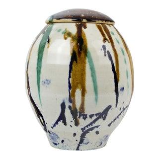 1977 Vintage Artisan Pottery Jar/Urn For Sale