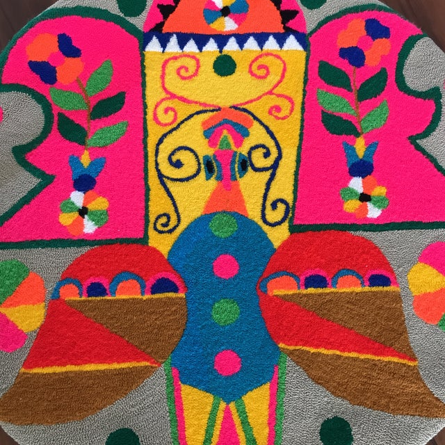 Monteil Style 1970's Mid-Century Pop Art Tapestry For Sale - Image 4 of 6