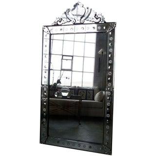 19th Century Venetian Mirror with Crest