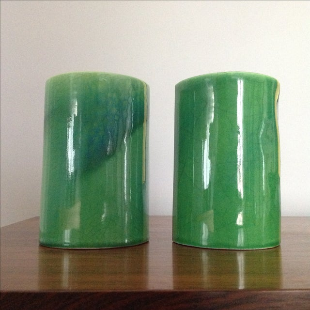 Raymor Green Ceramic Bookends - A Pair - Image 5 of 8