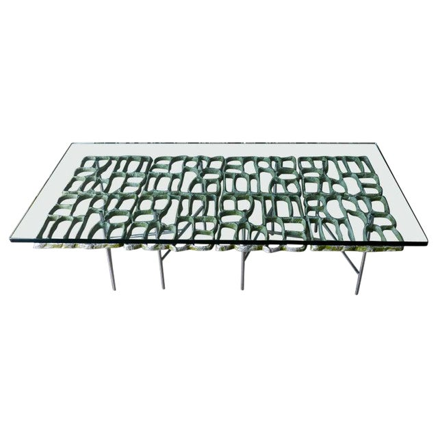1970s Sculptural Brutalist Coffee Table By Donald Drumm For Sale