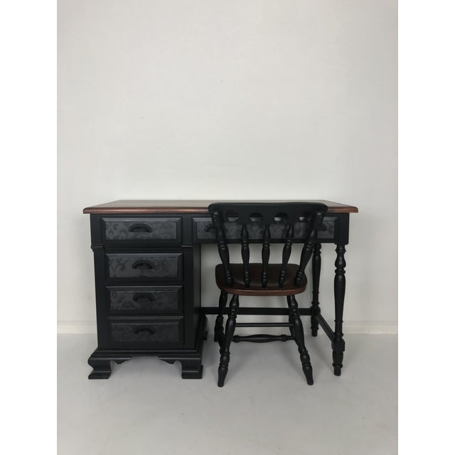 Vintage Desk and Chair - Set of 2 For Sale - Image 10 of 13
