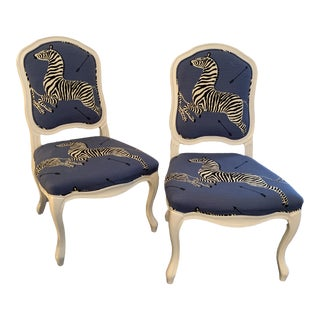 Scalamandre Zebra Chairs- A Pair For Sale