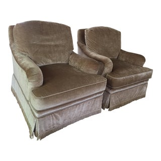 Schumacher Camden Armchairs - A Pair For Sale