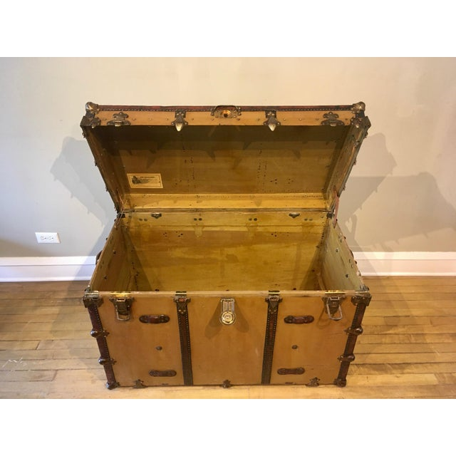 Early 1900s Canvas Travel Trunk For Sale In Chicago - Image 6 of 13