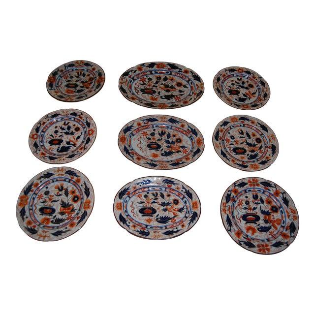 Antique English Ironstone Platters & Dishes - Set of 9 - Image 1 of 6