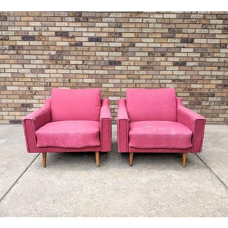1960s Mid Century Modern Lawrence Peabody Style Lounge Chairs - a Pair Preview