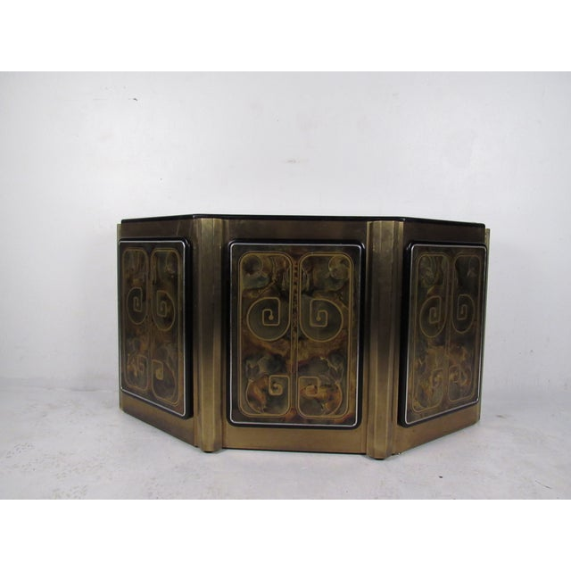 Stunning Mastercraft Demilune Console Cabinet by Bernhard Rohne For Sale - Image 13 of 13