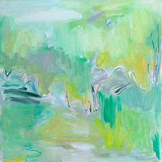 """Sea Grass"" by Trixie Pitts Large Abstract Expressionist Oil Painting For Sale"
